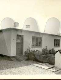 Anders Andersenshus i Mårslet. Som er jævnet med jorden da plejehjemmet blev udvidet